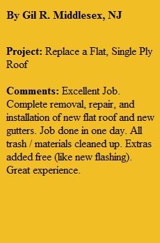 Roofing repair Middlesex NJ