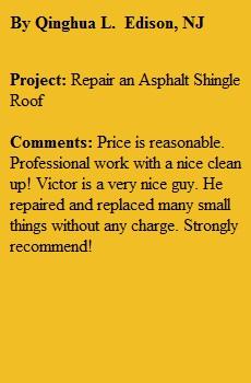 Roofing Repair Edison NJ 08820