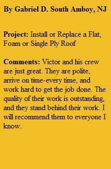 Flat Roofing Repair South Amboy NJ